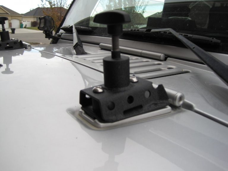 Installation of Hi Lift Jack Hood Mounts Jeep Wrangler JK