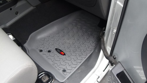 These Are Contoured Rubber Floor Mats That Are Measured For Your Jeep  Wrangler JK, They Are Front And Rear Mats A Total Of Three Pieces.