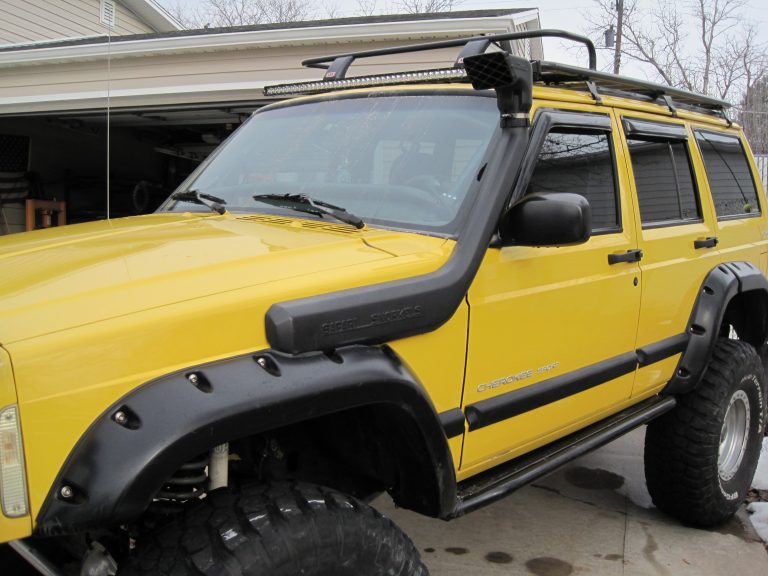 Yellow 2000 Jeep Cherokee XJ A Most Capable Off-Road XJ