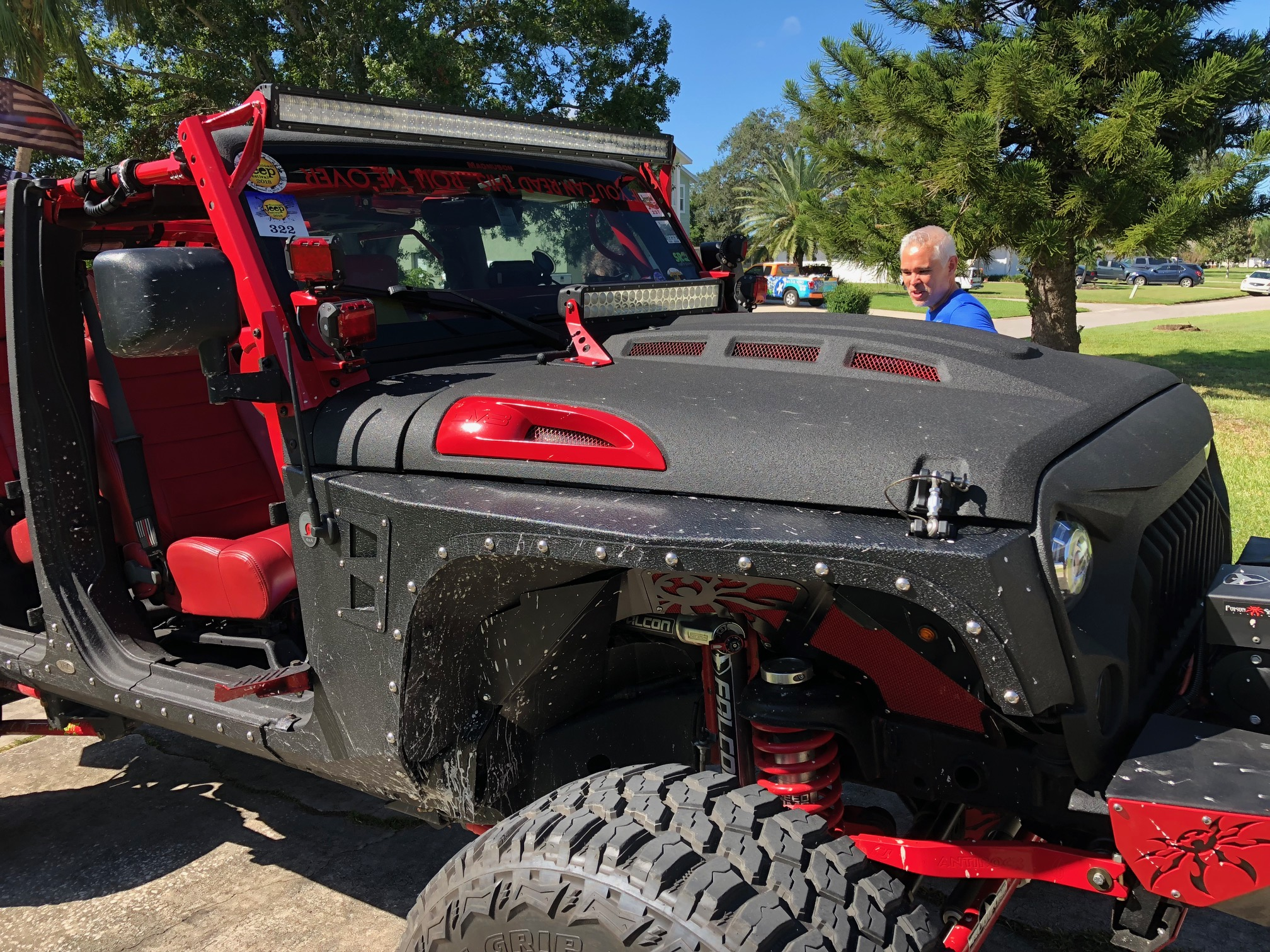 Black And Red Decked Out Sypder Co Jeep Wrangler Jk Gpr Dna